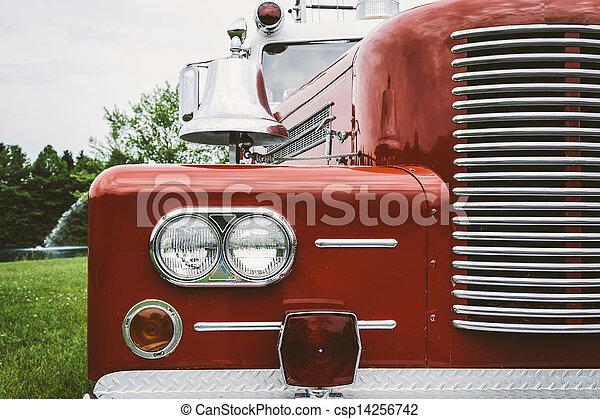 Vintage Fire Truck - csp14256742