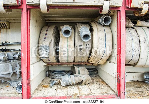Vintage fire truck - csp32337194