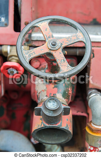 Vintage fire truck - csp32337202