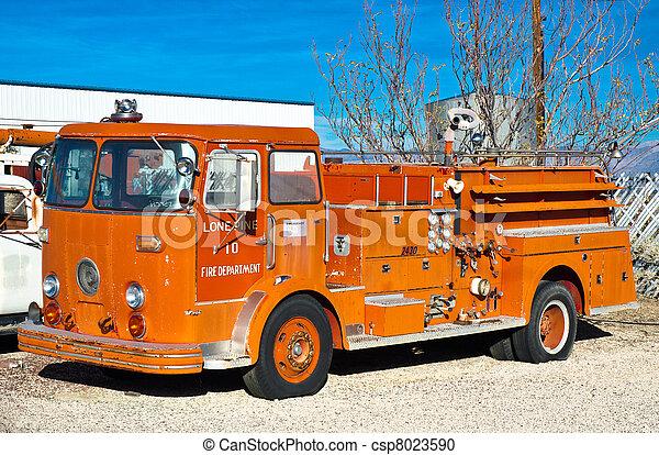Vintage Fire Truck - csp8023590