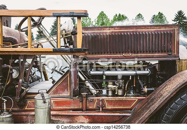 Vintage Fire truck - csp14256738