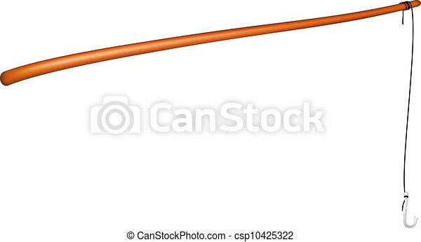 Vintage fishing rod - csp10425322