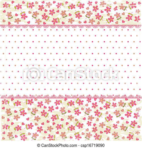 Vintage floral background - csp16719090