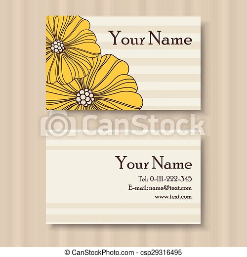 Vintage floral business card template eps vectors search clip art vintage floral business card csp29316495 fbccfo Gallery