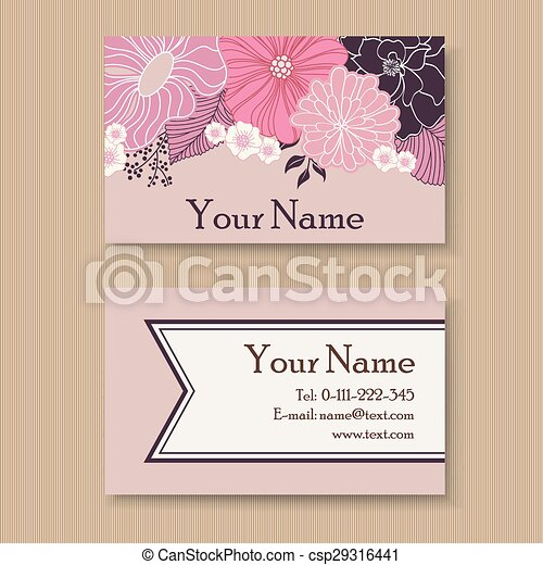 Vintage floral business card template eps vector search clip art vintage floral business card csp29316441 accmission Gallery
