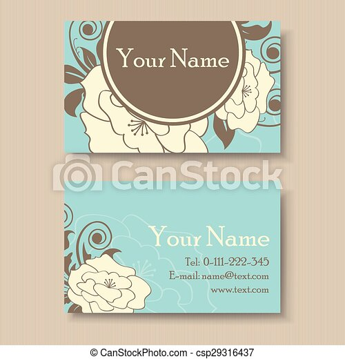 Vintage floral business card template vectors search clip art vintage floral business card csp29316437 accmission Choice Image