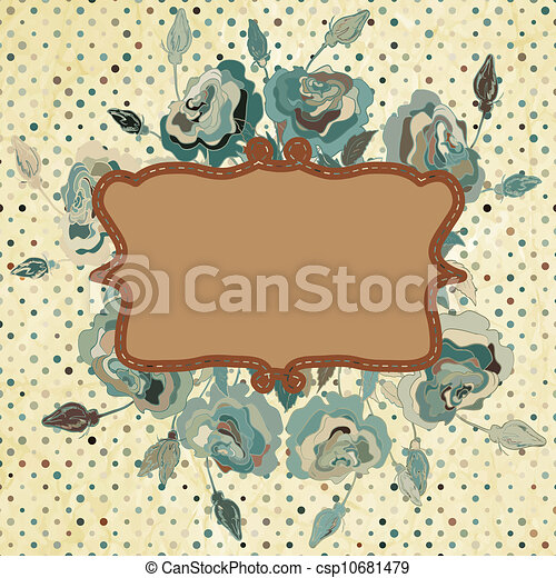 Vintage floral illustration of flowers. EPS 8 - csp10681479