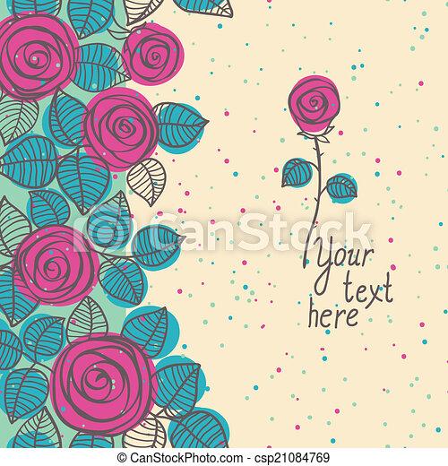 Vintage floral seamless border. - csp21084769
