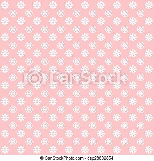 Vintage flower garden pattern background - csp28832854