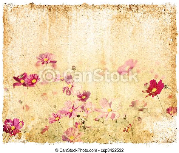 Vintage flower paper background vintage flower paper background csp3422532 mightylinksfo