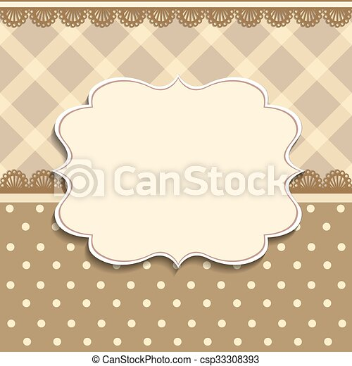 Vintage frame background invitation template vector plaid pattern vintage frame background invitation template csp33308393 stopboris Image collections