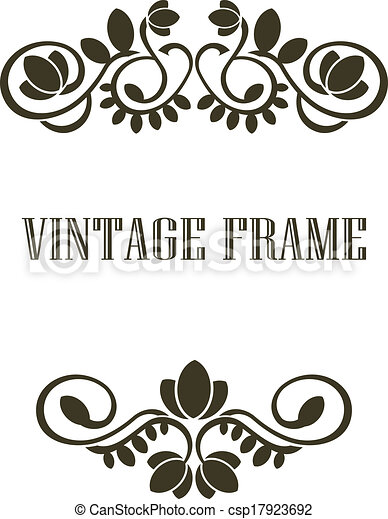 Vintage Frame Border Elements