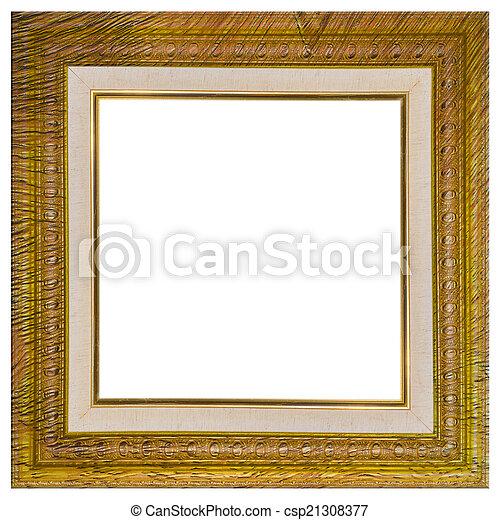 Vintage frame broken with old canvas.