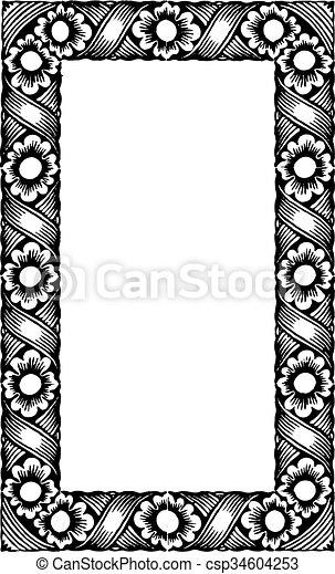Vintage Frame - csp34604253