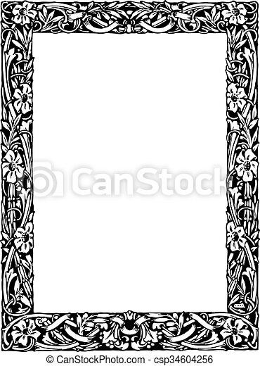 Vintage Frame - csp34604256