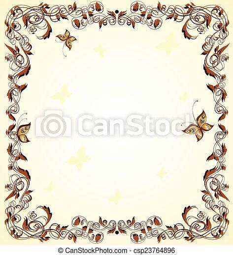 Vintage frame - csp23764896