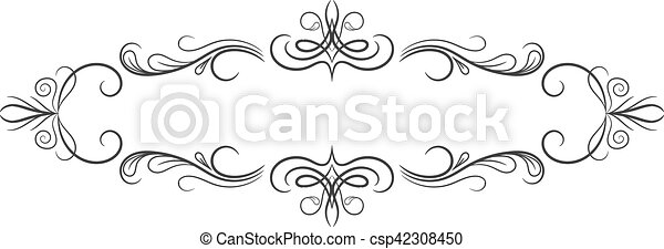 Vintage frame. Elegant luxury vintage calligraphy frame. - csp42308450