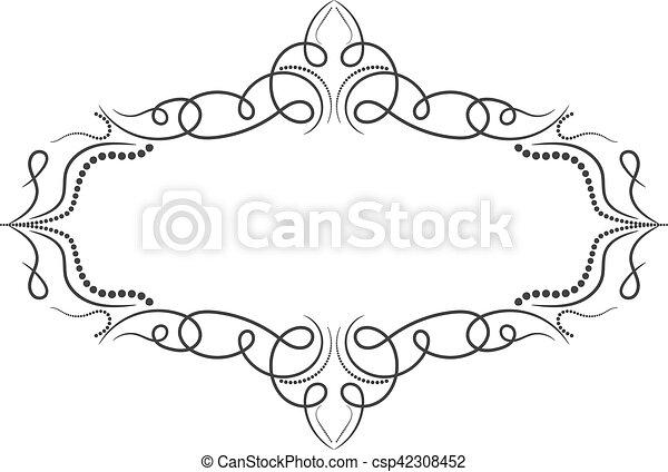Vintage frame. Elegant luxury vintage calligraphy frame. - csp42308452