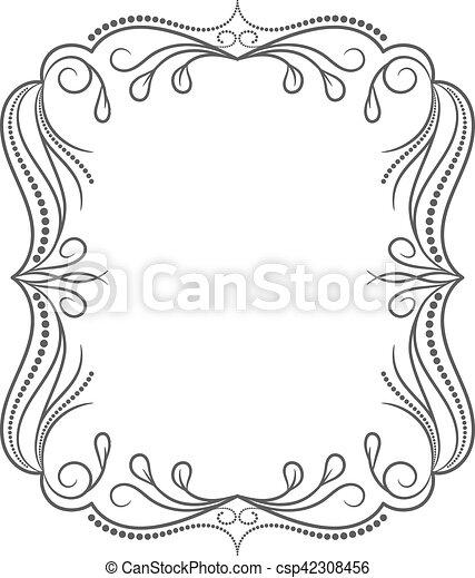 Vintage frame. Elegant luxury vintage calligraphy frame. - csp42308456