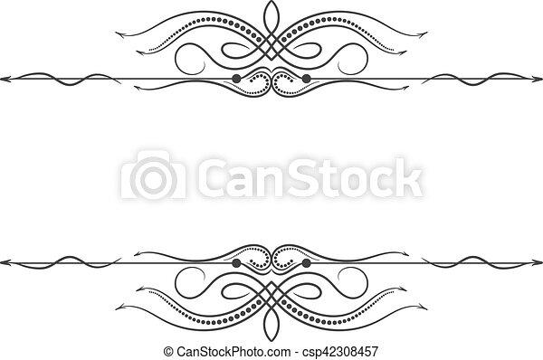 Vintage frame. Elegant luxury vintage calligraphy frame. - csp42308457