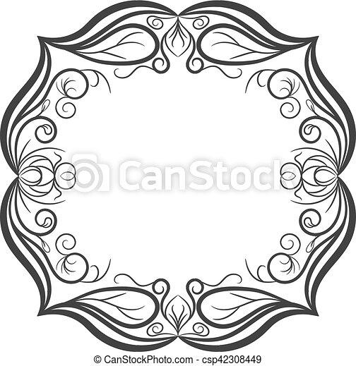 Vintage frame. Elegant luxury vintage calligraphy frame. - csp42308449