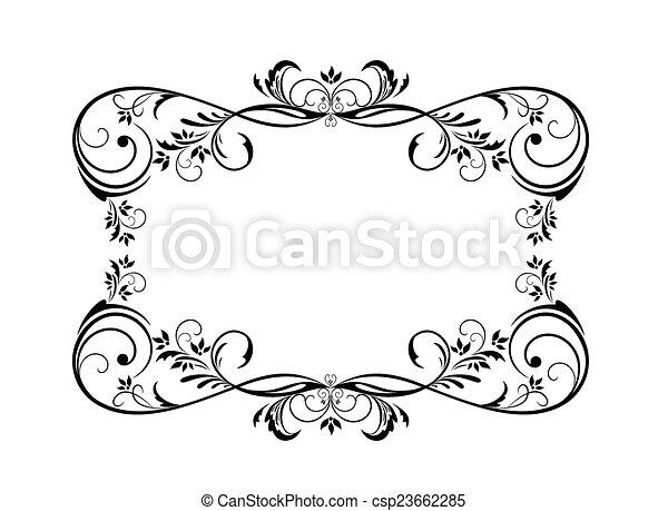 Vintage frame - csp23662285