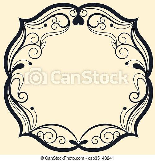 Vintage frame - csp35143241