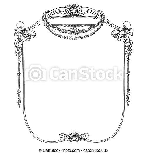 Vintage frame - csp23855632