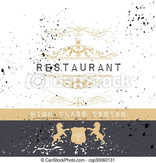 Vintage Frame For Luxury Logos Restaurant Menu Boutique Or Business Identity Royal Heraldic Style