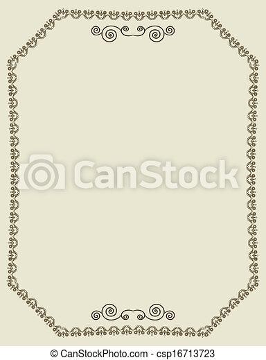 Vintage frame  - csp16713723
