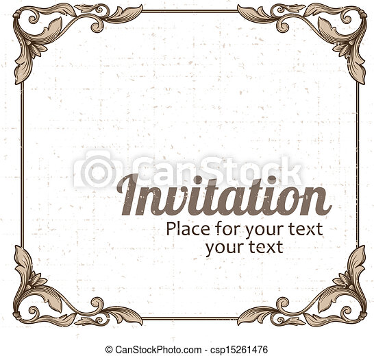 Vintage frame vectors illustration - Search Clipart, Drawings, and ...