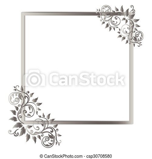 Vintage frame on white background. vector illustration vector ...