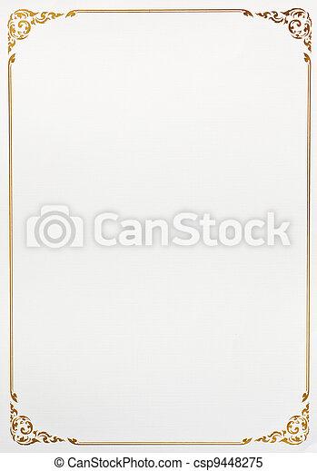 Vintage frame paper - csp9448275