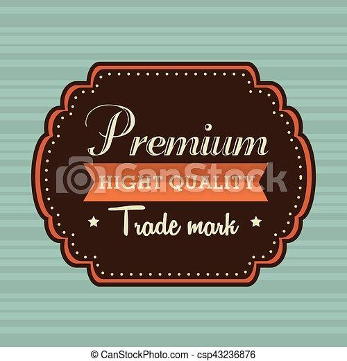 vintage frame quality seal - csp43236876