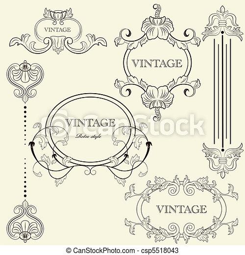 Vintage frame set - csp5518043