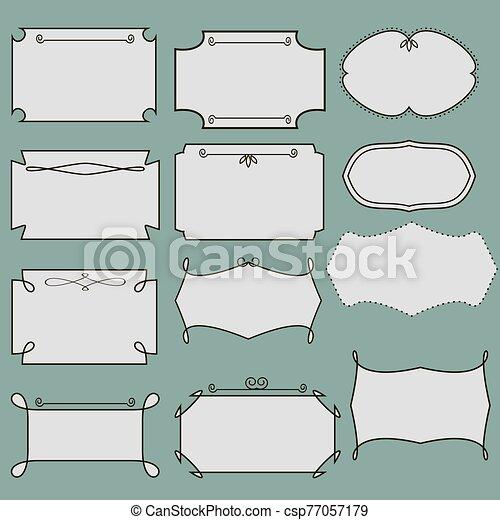 Vintage frame set vector - csp77057179
