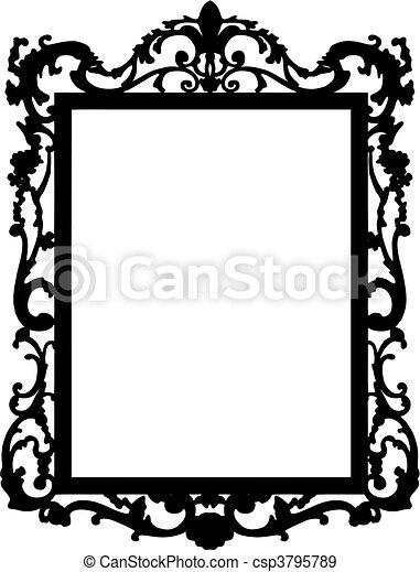 vintage frame vector vintage frame made in vector rh canstockphoto com picture frame vector png picture frame vector download