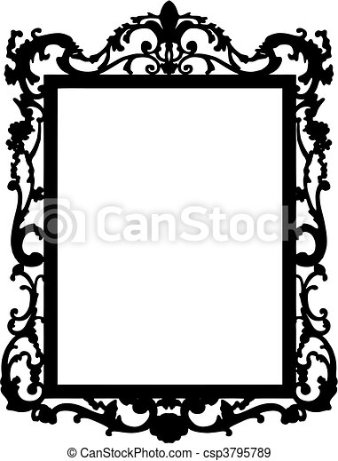 vintage frame. Vector - csp3795789