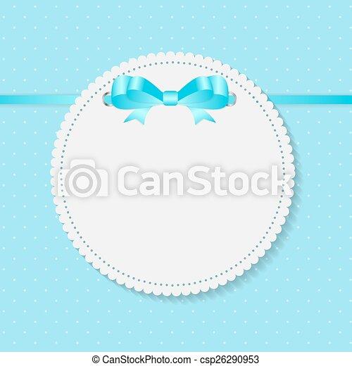 Vintage Frame with Bow  Background. Vector Illustration. - csp26290953