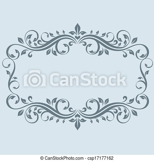 Vintage frame with leaves clip art vector - Search Drawings and ...