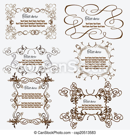 Vintage frames and design elements - with place for your text - csp20513583
