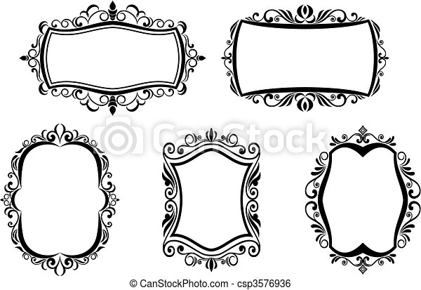 antique frame drawing. Vintage Frames - Csp3576936 Antique Frame Drawing