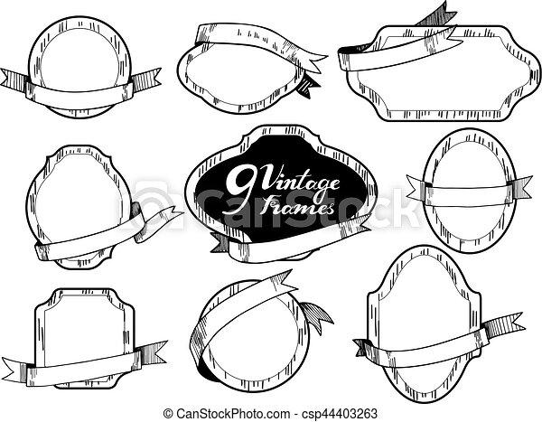 Vintage frames - csp44403263