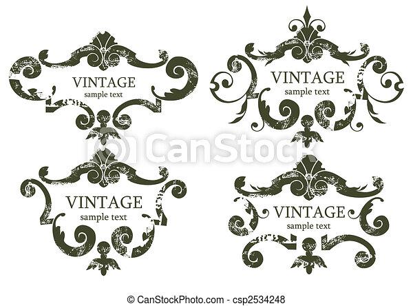 vintage frames - csp2534248