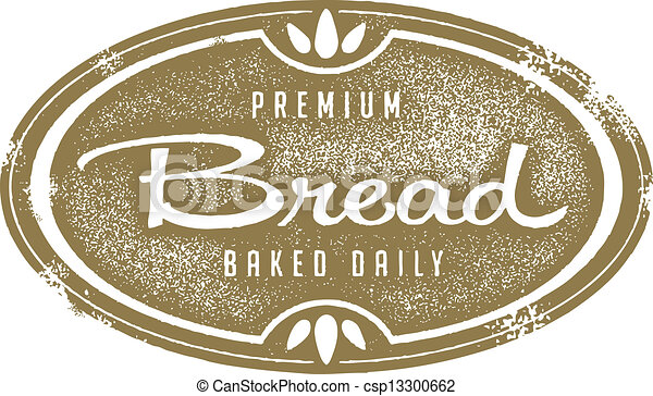 Vintage Fresh Bread Bakery Stamp - csp13300662