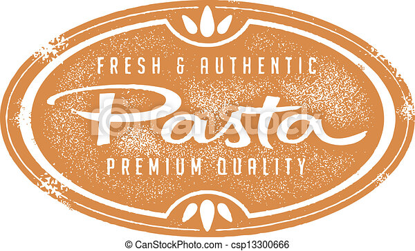 Vintage Fresh Pasta Stamp - csp13300666