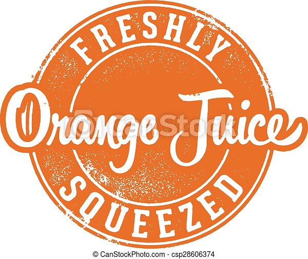 Vintage Fresh Squeezed Orange Juice - csp28606374