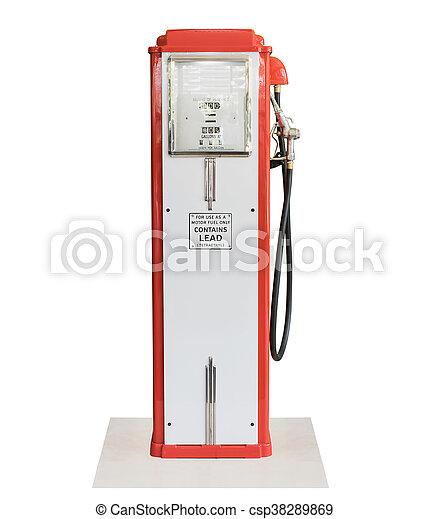 Vintage fuel pump on white background - csp38289869