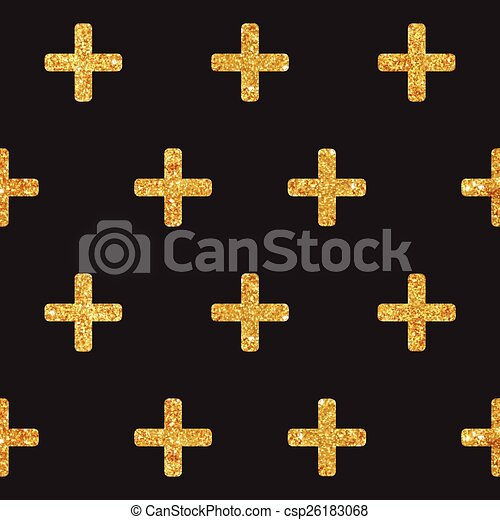 Vintage Geometric Glittery Gold Background - Seamless Pattern - in vector - csp26183068