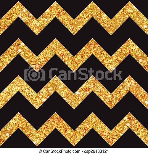 Vintage Geometric Glittery Gold Background - Seamless Pattern - in vector - csp26183121